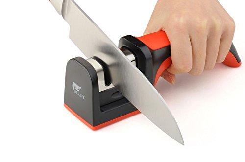Best Deals! [HDS-TEK Hot Sell Product] HDS-TEK TM Soft-Grip Handle 2 Stage Professional Knife Sharpe...