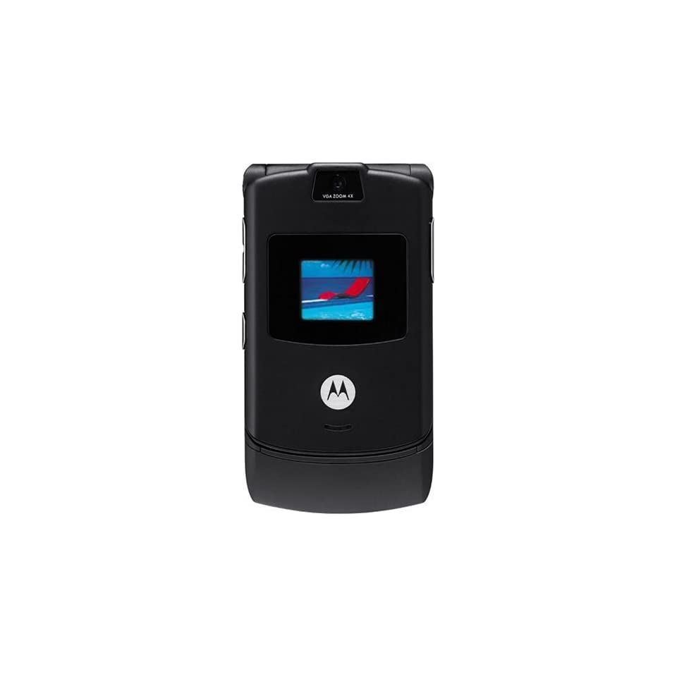 Motorola RAZR V3 Unlocked Phone with Camera, and Video Player  International Version with No Warranty (Black)