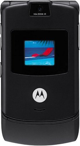 Motorola RAZR V3 Unlocked Cell Phone with Video Player--International Version with No Warranty (Black)