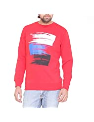 CLUB YORK Men's Printed Sweatshirt (Red)