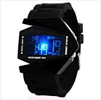 Generic Digital Black Dial LED Sports Watch for Men- GENERIC 8147