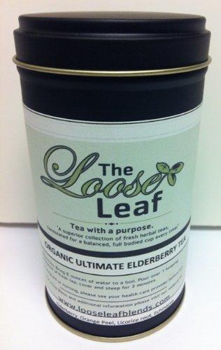The Loose Leaf Organic Tea: Ultimate Elderberry Tea 15-20 Cups Health And Strog Immune System. Tea With A Purpose.