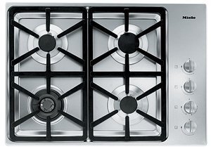Miele : KM3464LP 30 Stainless Steel Gas Cooktop