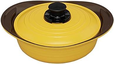 アイリスオーヤマ 鍋 無加水鍋 24cm 浅型 イエロー MKS-P24S