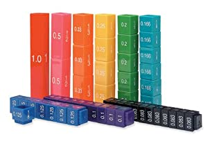 Learning Resources Fraction Tower Cubes Equivalency Set