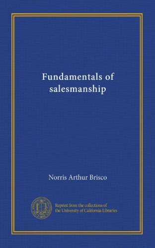 Fundamentals of Salesmanship