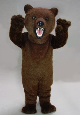 Fierce Grizzly Mascot Costume