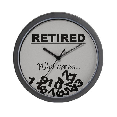 CafePress - Fallen numbers retirement Wall Clock - Unique Decorative 10