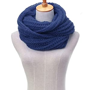 foulard echarpe tube cache col chale scarf tour de cou maille tricot chaud femme cadet bleu. Black Bedroom Furniture Sets. Home Design Ideas