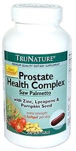 New formula- TruNature Prostate Health Complex with Saw Palmetto, zinc, lycopene & Pumpkin seed 200 softgels