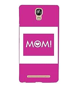 Mom Mummy Maa Mata Cute Fashion 3D Hard Polycarbonate Designer Back Case Cover for Gionee Marathon M5 Plus