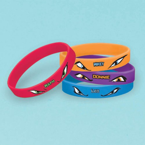 Teenage Mutant Ninja Turtles Rubber Bracelets, 4 Count, Party Supplies