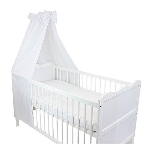 babybett himmel baumwolle baby betthimmel kinderbett babybetthimmel mit schleife eule rosa blau. Black Bedroom Furniture Sets. Home Design Ideas