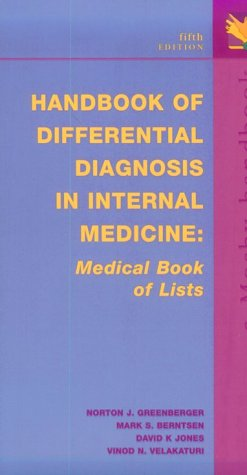 Handbook of Differential Diagnosis in Internal Medicine: Medical Book of Lists