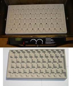 amazoncom flamette ceramic bbq grill insert 11 12quot x