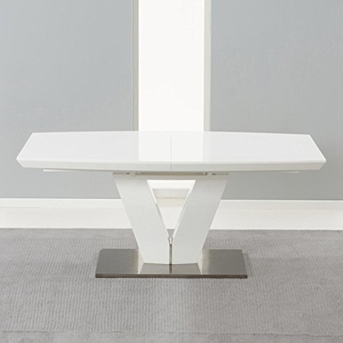 Awesome Buy Cheap Malibu White High Gloss Extending Dining Table