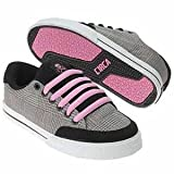 Circa Skate Shoes ALW50 Lopez-Black / Pink / Plaid