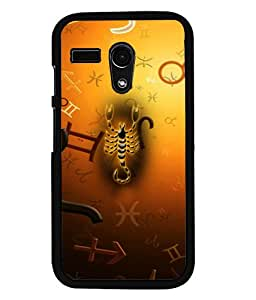 PRINTVISA Scorpio Premium Metallic Insert Back Case Cover for Motorola Moto G - D5937