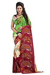 Khatushyam Textiles saree comes with the georgette material unstiched blouse