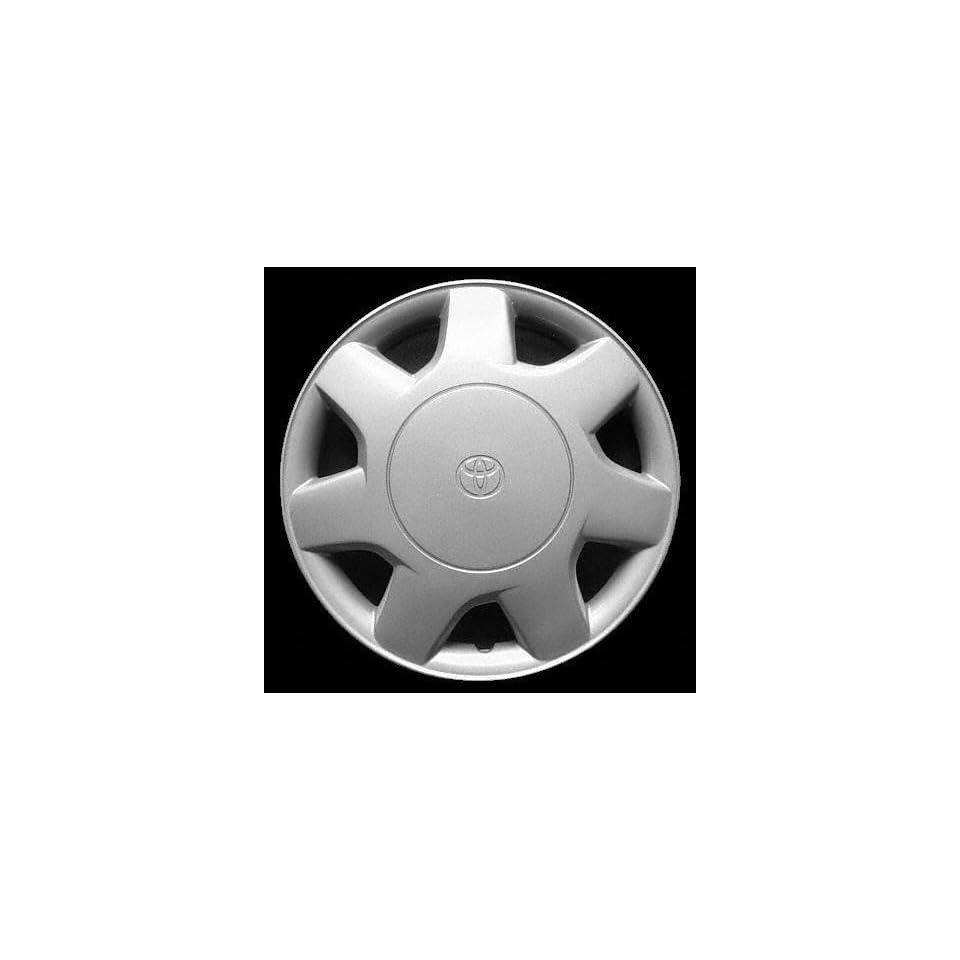 95 96 TOYOTA TERCEL WHEEL COVER HUBCAP HUB CAP 13 INCH, 7 SPOKE BRIGHT SILVER 13 inch (center not included) (1995 95 1996 96) T261259 FWC61084U20