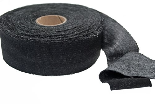 "Best Price Bias Binding Made of Black Gray Duo Jersey Rib Knit 1 1/4"" Wide (20 Yards)"