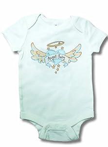 Light of Mine Designs Angel Baby Blue Short Sleeve Bodysuit, 6-12 Months