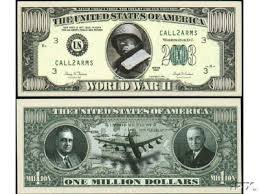 Set of 10 Bills-World War II Million Dollar Bill