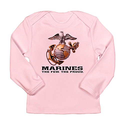 Royal Lion Long Sleeve Infant T-Shirt Marines The Few The Proud - Petal Pink, 3 To 6 Months