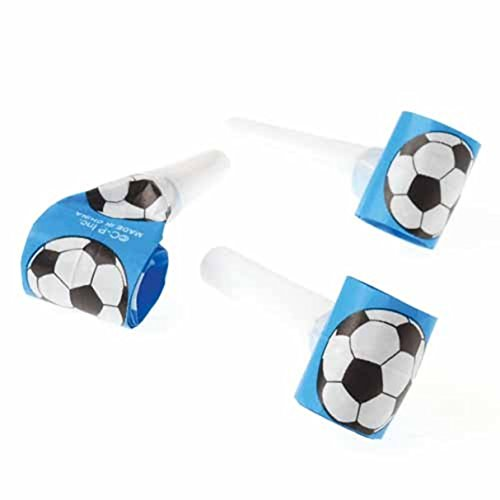 Dozen Soccer Theme Blowouts Blowers Noisemakers