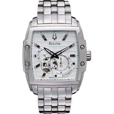 Bulova 96A122 Mens Automatic Silver Watch