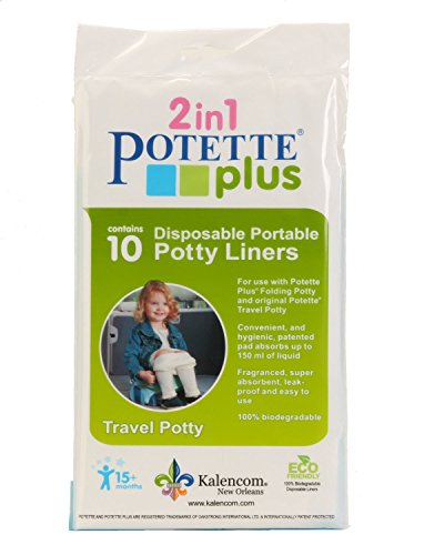 Kalencom Potette Plus On the Go Potty Liner Re-Fills 10-Pack - 1