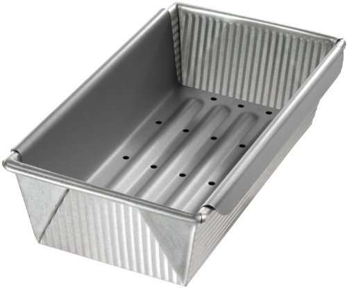 Usa Pans Meat Loaf Pan With Insert, 10 In X 5 In front-341293