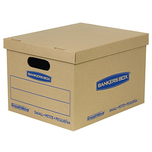 Bankers Box SmoothMove Classic Moving Boxes, Tape-Free Assembly, Small, 15 x 12 x 10 Inches, 10 Pack (7714203) (Moving Boxes For Books compare prices)