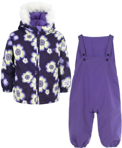 Girls TRESPASS POPPET Purple Ski Jacket & Salopettes Pants Snow Suit Set Ages 6-24 Months