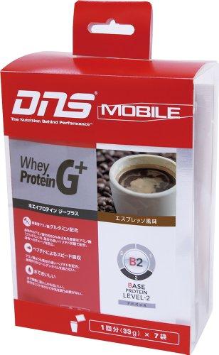 DNS MOBILE ホエイプロテインG+ エスプレッソ風味 33g×7袋