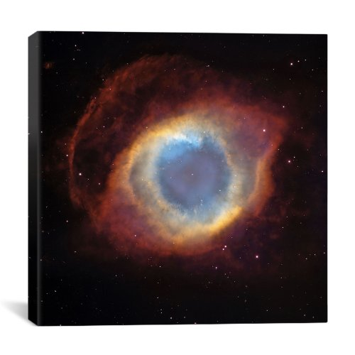 """Icanvasart Helix (Eye Of God) Nebula (Hubble Space Telescope) By Astronomy & Space Canvas Print #11106 - 12""""X12"""" (.75"""" Deep)"""