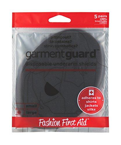 Garment Guard LARGE: Disposable Underarm Shields, 10 Black Armpit Pads (Black Garment Shields compare prices)