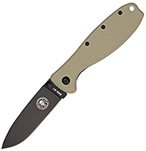 Amazon.com: Blue Ridge Knives Desert Tan/Black Zancudo Framelock Folder: Sports & Outdoors