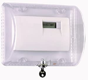 Safety Technology  International STI-9110 Thermostat Protector with Key Lock - Clear Polycarbonate Enclosure