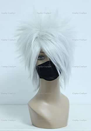 CosplayerWorld Cosplay Wigs NARUTO? Hatake Kakashi Wig For Convention Party Show Silver 35cm 160g WIG-205A01