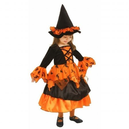 Little Orange Witch Dress and Hat
