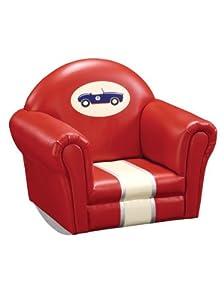 Guidecraft Retro Racers Upholstered Rocker from Guidecraft Inc