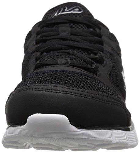 Fila Men's Memory Deluxe SE-M Running Shoe, Black/Castlerock/White, 9 M US