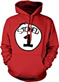 Stoned 1, Stoned Thing # 1 Hooded Sweatshirt Funny Pot Weed Smoking Design Hoodie