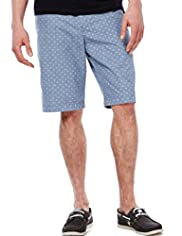 North Coast Pure Cotton Chambray Spotted Shorts