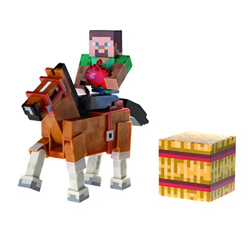 Minecraft-Steve-with-Horse-Action-Figure-2-Pack