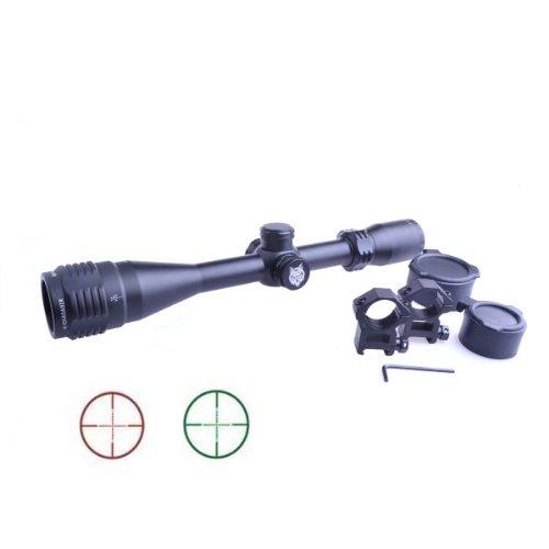 TopOutdoor Tactical Airsoft Gun 4-16x40 AOE Iluminated Adjustable Scope Riflescope 20mm Rail Mounts