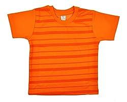 kandyfloss Boys' T-Shirt (MRHKF-BOYS'-TS-ORANGE-2, Orange, 3-4 Years)