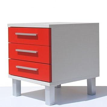 CajonesUnicos - Cajonera modular textil mim3 40cm rojo unc4 patas