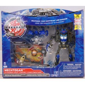 Bakugan - Mechtanium Surge - Mechtogan Extension Pack - BRAXION BLUE with Real Die-Cast! - incl. 1 Mechtogan, 1 Bakugan, 2 Bakunano and 2 Ability Cards - MIB